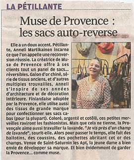 Muse de Provence dans La Provence le 22-11-2013