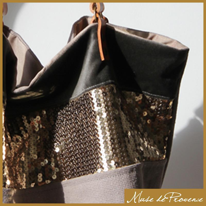 Les sacs cabas à  paillettes de Muse de Provence