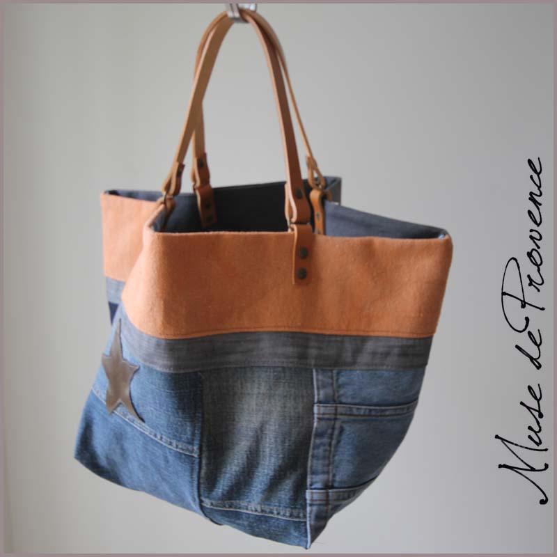 nouveau produit 9d70c c0067 Sac cabas en jean MIRO | Muse de Provence