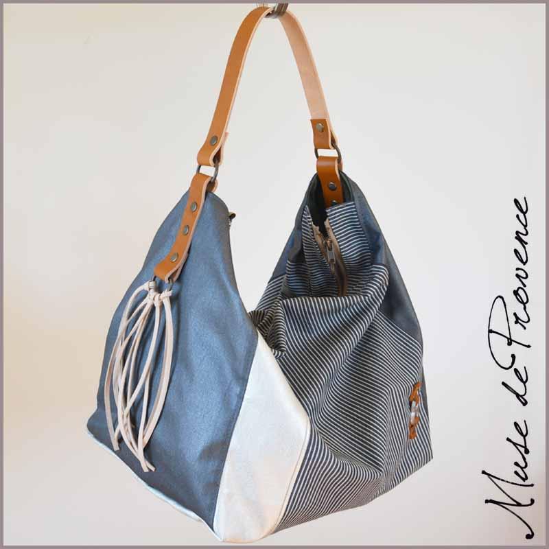 sac cabas avec zip 88o muse de provence. Black Bedroom Furniture Sets. Home Design Ideas