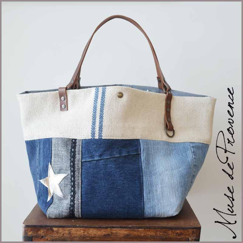 magasin en ligne 913fc 60f67 Sac cabas jean-cuir PAGE | Muse de Provence